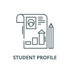 Student profile line icon linear concept vector