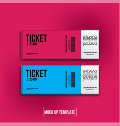 Ticket realistic mock up vector