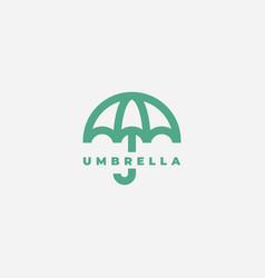 umbrella logo design vector image