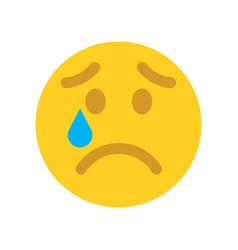 upset emoji face emoticons icon vector image