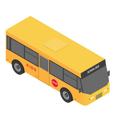 village school bus icon isometric style vector image