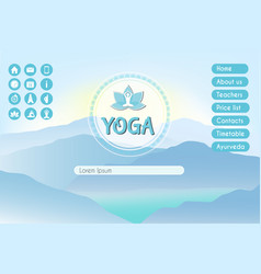 yoga studio website landing page template vector image