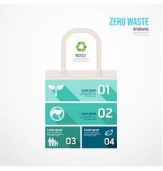 Zero waste environmental jigsaw infographic go vector