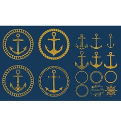 anchor labels set vector image vector image