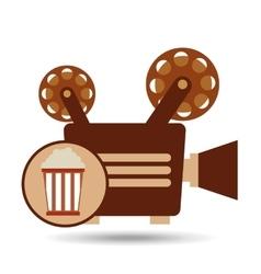 camera movie vintage pop corn icon design vector image vector image