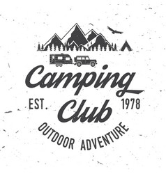 camping extreme adventure vector image vector image