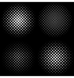 Halftone Frames A set of 4 halftone frame patterns vector image