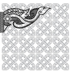 thai folk art design vector image