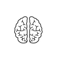 brain line icon medical and school element vector image vector image