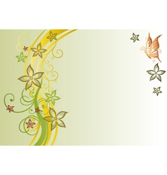 Filigree flowers autumn vector image vector image