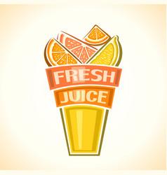 fresh citrus juice vector image vector image
