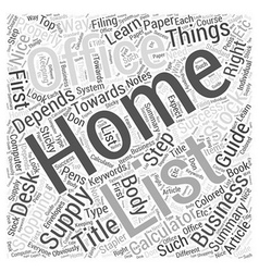 Home office supply shopping guide word cloud vector