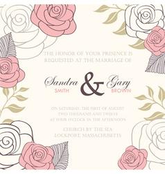 Invitation wedding card vector image vector image