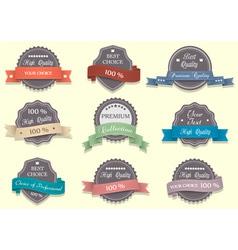 Nine Premium Quality labels vector image