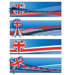 uk banners vector image vector image