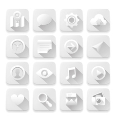 White flat icons web design elements vector image vector image