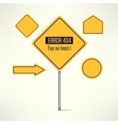 404 web page not found error made with road vector image vector image