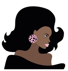 African Beautiful Woman vector image