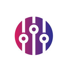 circle sound equalizer logo vector image vector image