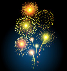 Golden firework for Christmas and Happy New Year vector image vector image