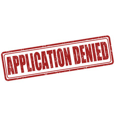 application denied stamp vector image