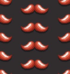 BlackBackgroundMustachePattern vector image vector image