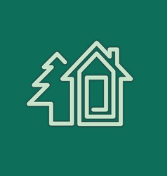 real estate house symbol vector image