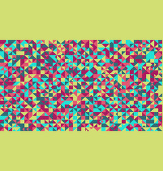 Abstract multicolored triangle mosaic pattern vector