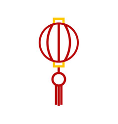 abstract outline chinese lantern graphic vector image