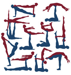 acroyoga poses vector image vector image