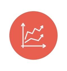 Arrows thin line icon vector image
