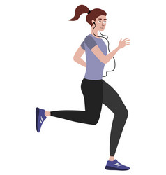 athlete a woman on a run in minimalist style vector image