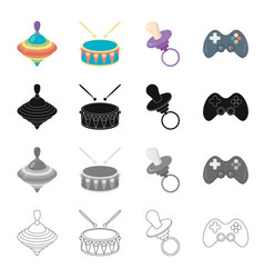 attributes care tools and other web icon in vector image vector image