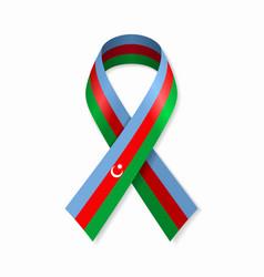 Azerbaijani flag stripe ribbon on white background vector
