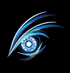 background abstract line light eye vector image