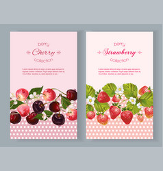 Berry vertical banners vector image