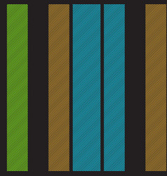 black striped fabric texture seamless pattern vector image
