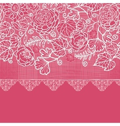 Blue lace flowers horizontal seamless pattern vector image