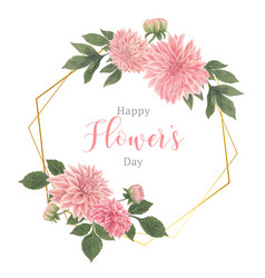 Botanical flowers elegance wreath wedding card vector