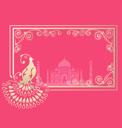Card with indian ornament vector