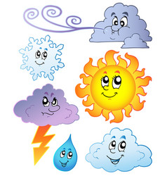 cartoon weather images vector image