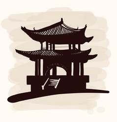 chinese national pagoda vector image
