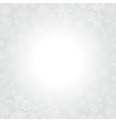 Christmas snowflakes and celebration light vector image