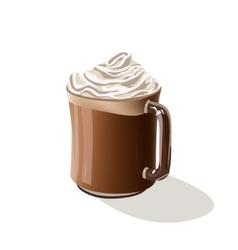 Coffee drink Mocha vector image vector image