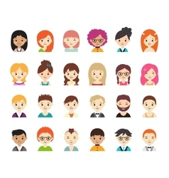 Collection of different avatars vector