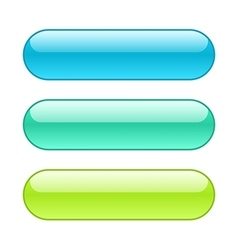 Colored web buttons Rounded shape with outlines vector image