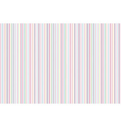 Colors lines on white background abstract pattern vector