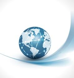 Communication world technology business vector