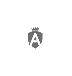 creative shield letter a logo design symbol vector image