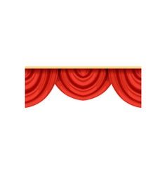 detailed red silk or velvet pelmets for theater vector image